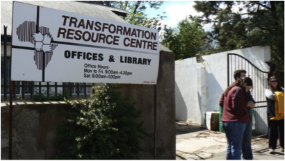 entrance to TRC
